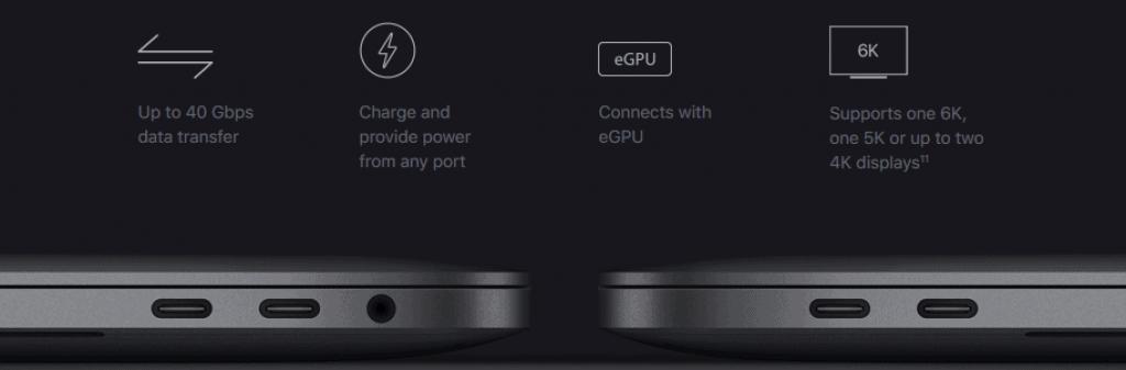 Macbook Pro 13 inch Thunderbolt 3