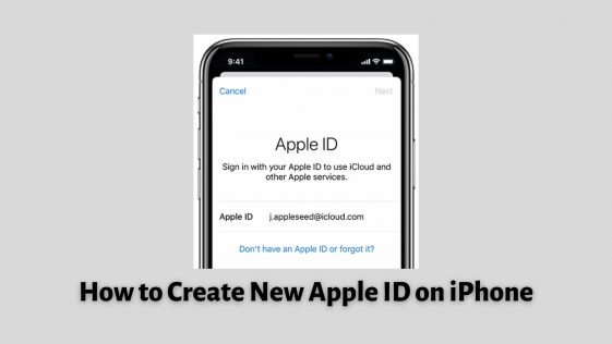 How to Create New Apple ID on iPhone