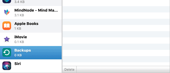 how to delete backups on icloud mac