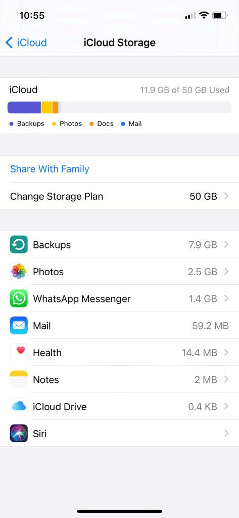 how to delete icloud storage on iphone