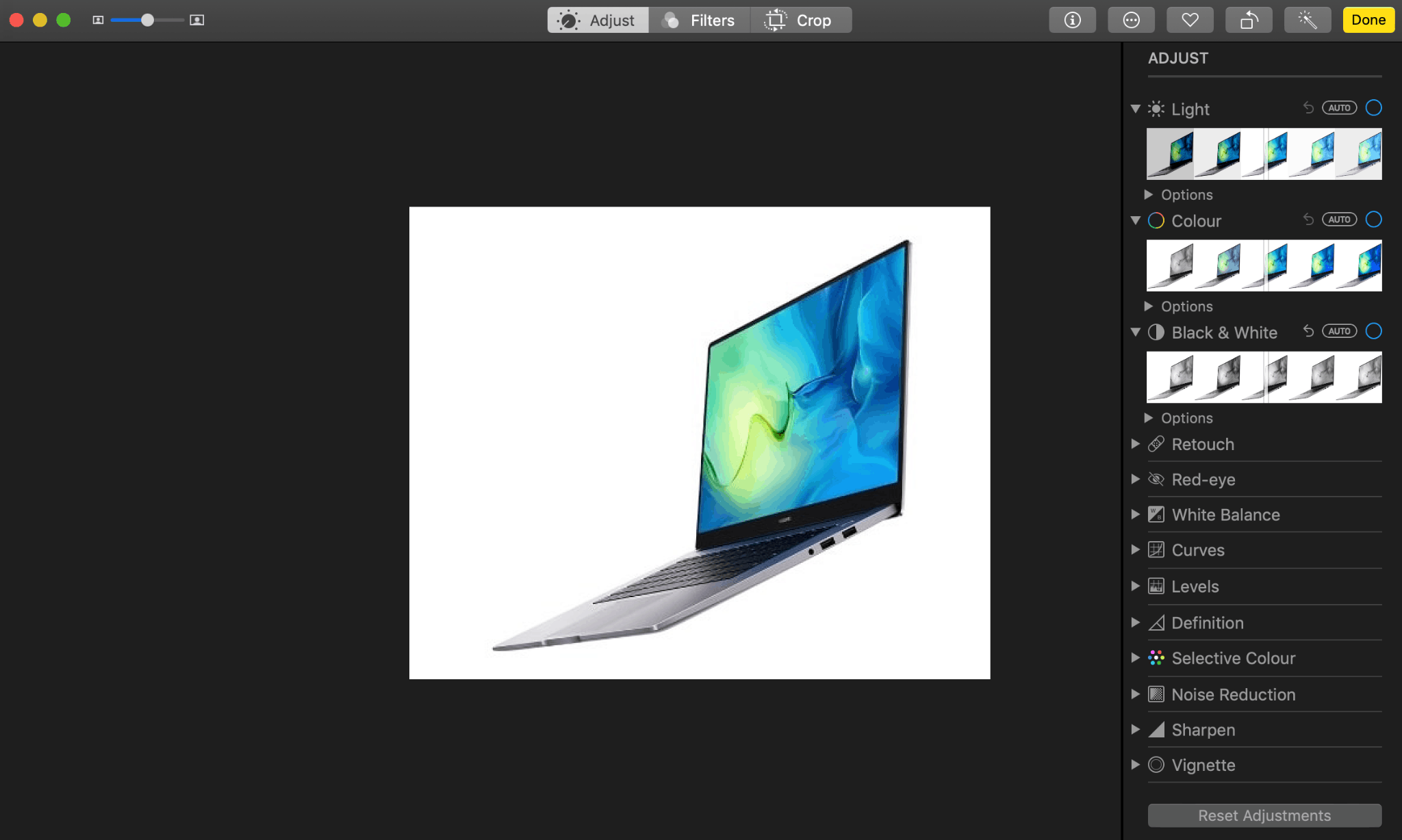 how to edit photos on macbook air