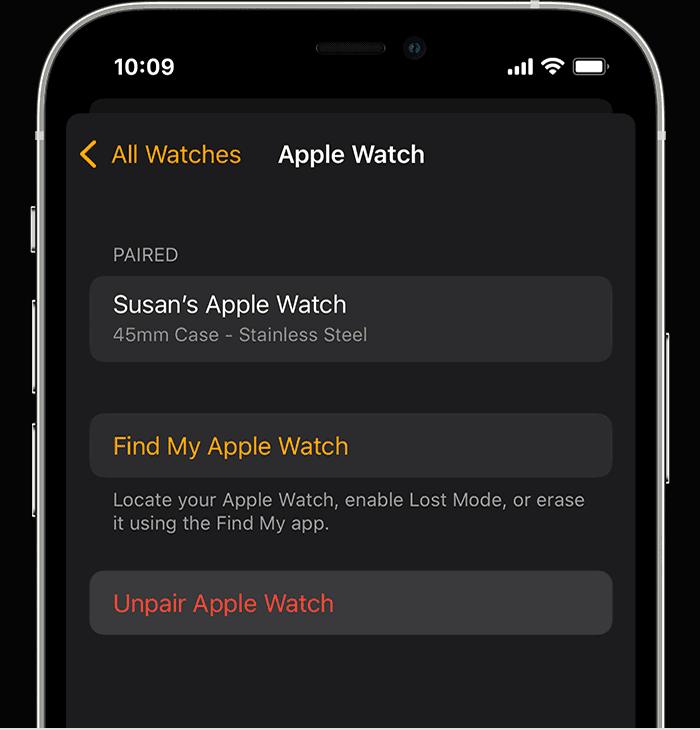 how to unpair an apple watch