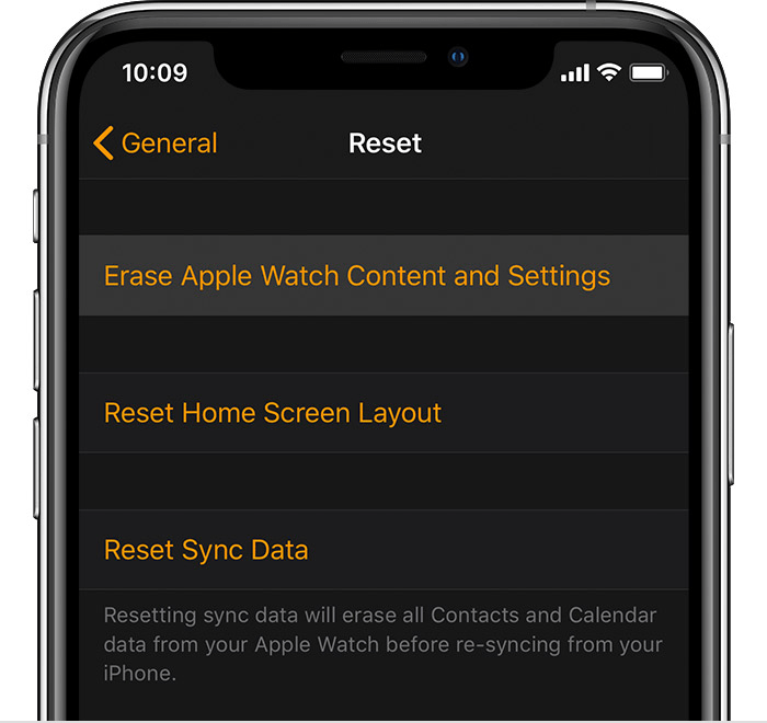 how to reset apple watch and pair again